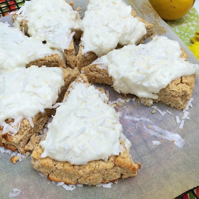 Lemon Coconut Scones | @TspBasil