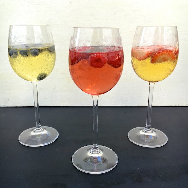Healthy Kitchen Hacks - Chill Wine With Frozen Fruit