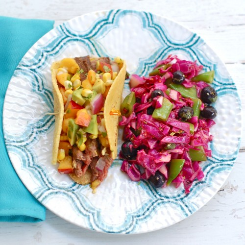 13 Drool-Worthy and Better for You Barbecue Sauces + Marinades: Steak Tacos with Nectarine Salsa