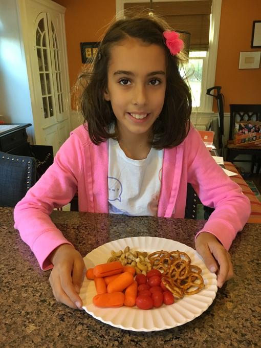 "Healthy Kitchen Hacks: Easy snack idea for after school - have kids build a ""snack platter."""
