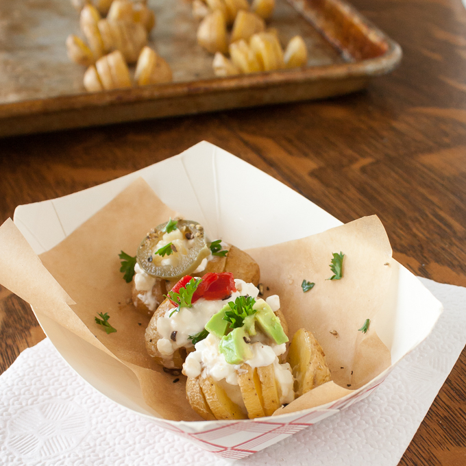 Protein-Packed Mini Potato Fans