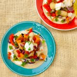 Slow Cooker Fish Tacos with Sweet Potatoes   @TspCurry
