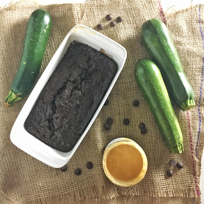 Add some savory sesame flavor to your dessert with this Chocolate Tahini Zucchini Bread. Recipe at Teaspoonofspice.com
