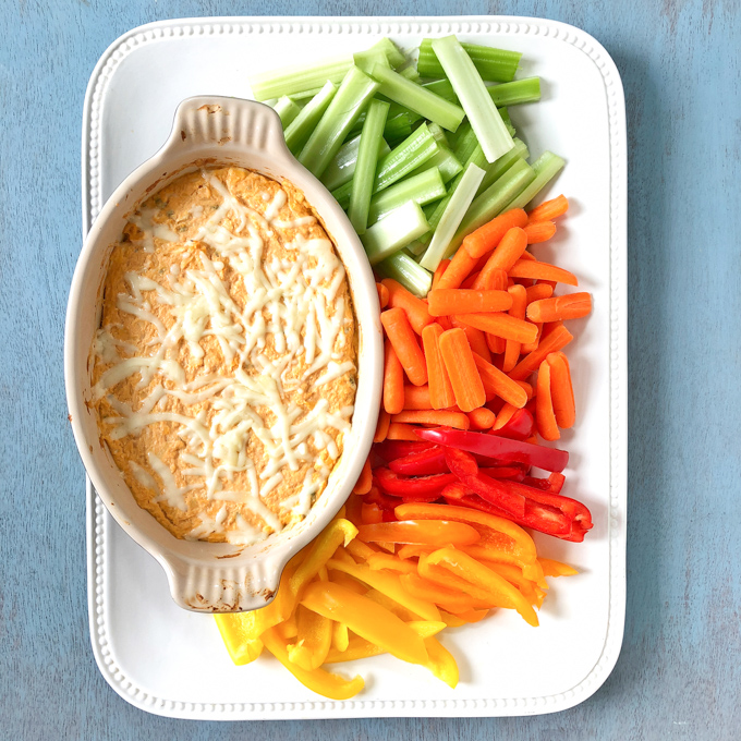Ellen's Lightened Up Buffalo Chicken Cheese Dip