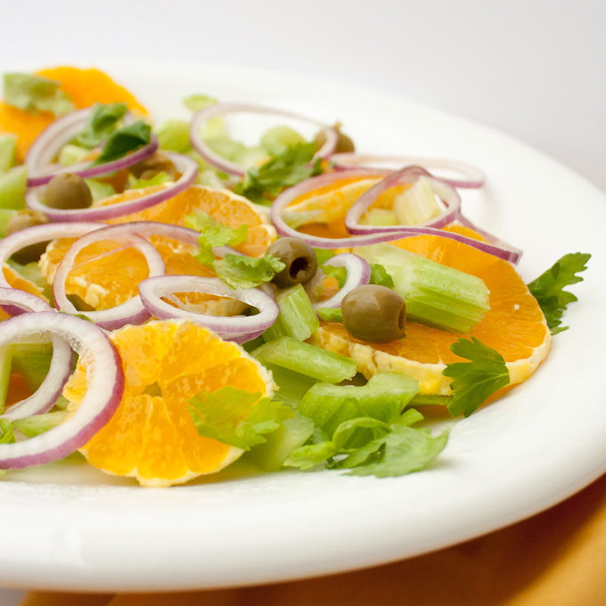 Easy Italian Celery and Orange Salad