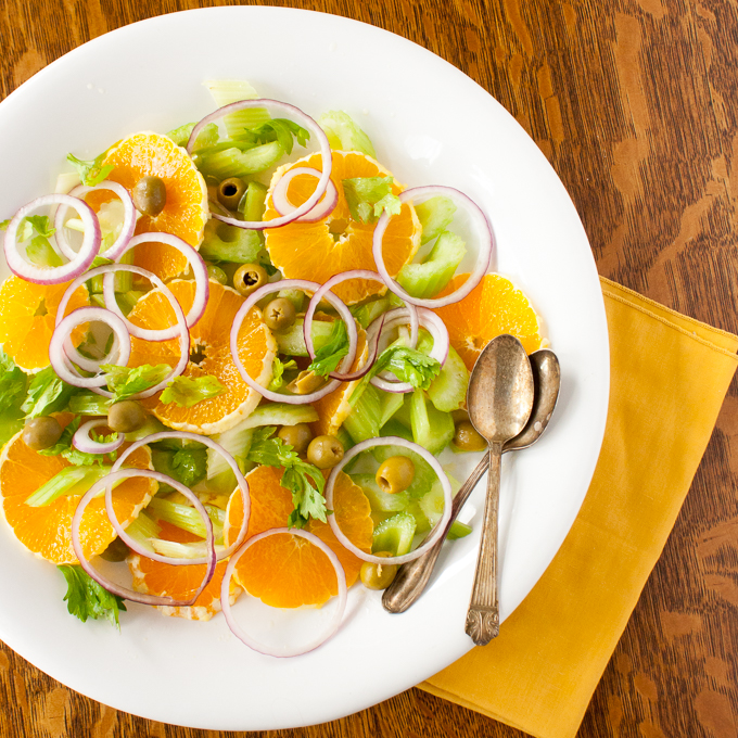 Easy Italian Celery and Orange Salad | @TspCurry