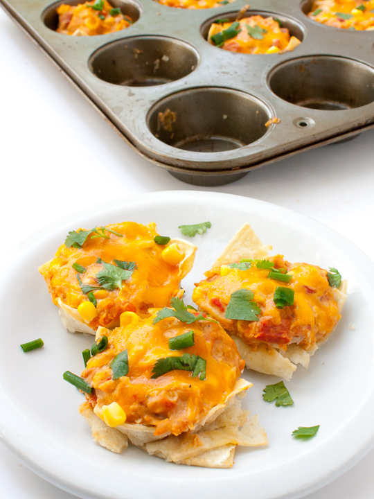 Quick Chicken Taco Cups | @TspCurry