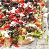 Use up that summer zucchini in this better-for-you nacho recipe with a Greek twist. Recipe at Teaspoonofspice.com