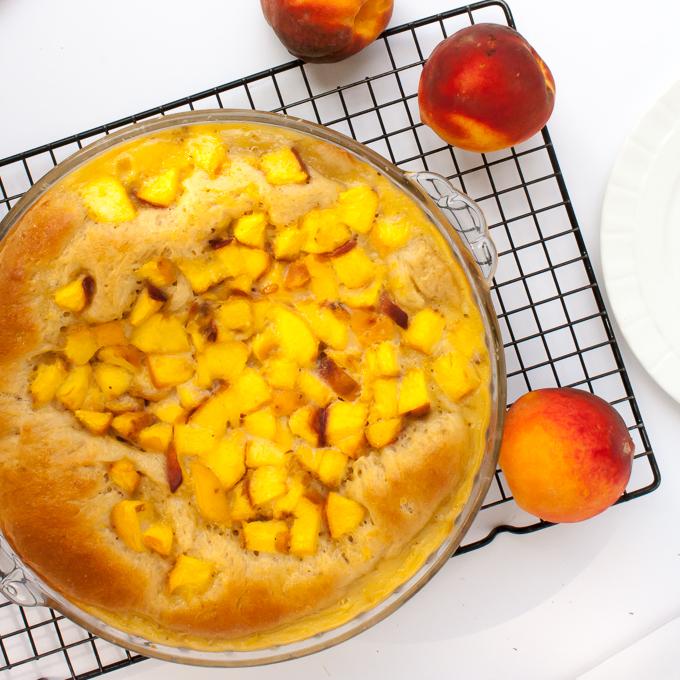 Grandma's Famous Peach Kuchen