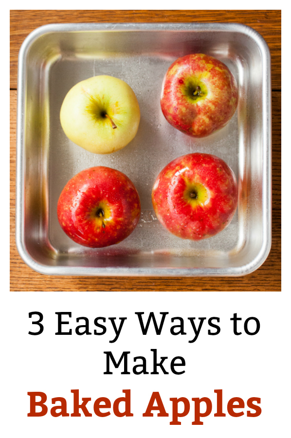Ooey-gooey caramel-filled Baked Apples in just 20 minutes - or only 2 minutes - with Microwave Mug Baked Apples plus 2 more simple recipes. 3 EASY BAKED APPLES RECIPES - https://www.pinterest.com/tspcurry/