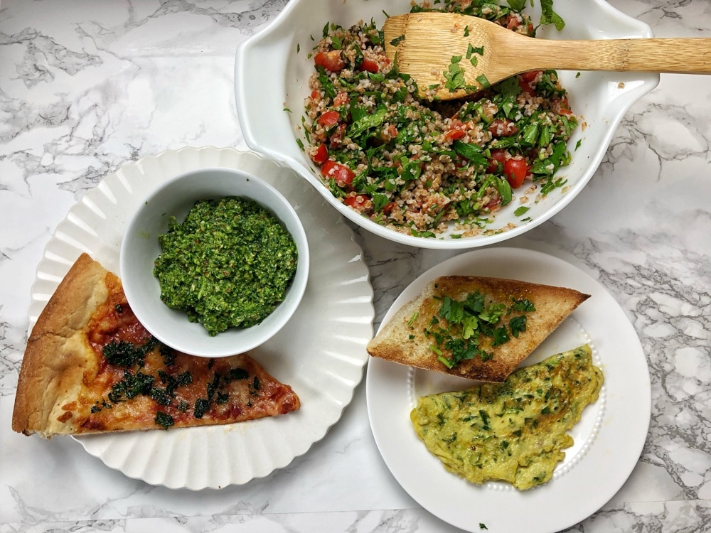 Got extra parsley? Avoid food waste with these 5 healthy kitchen hacks that feature parsley! Find these Healthy Kitchen Hacks at Teaspoonofspice.com