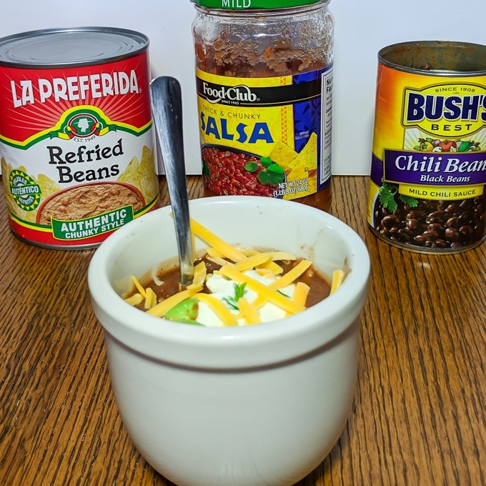 Microwave Mug Chili | @tspcurry