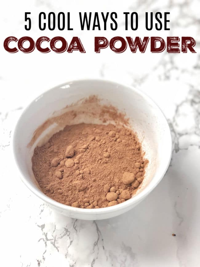 Add unsweetened cocoa powder in these everydaytype of recipes like oatmeal, peanut butter, spice rubs and more for a hit of chocolate flavor! Healthy Kitchen Hack at Teaspoonofspice.com #cocoapowder