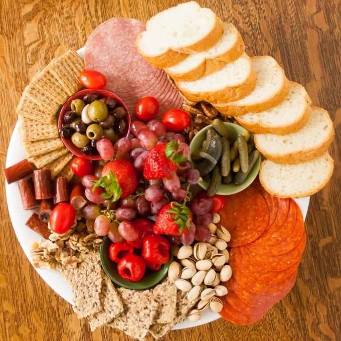 Mediterranean Picnic Plate Grazing Board