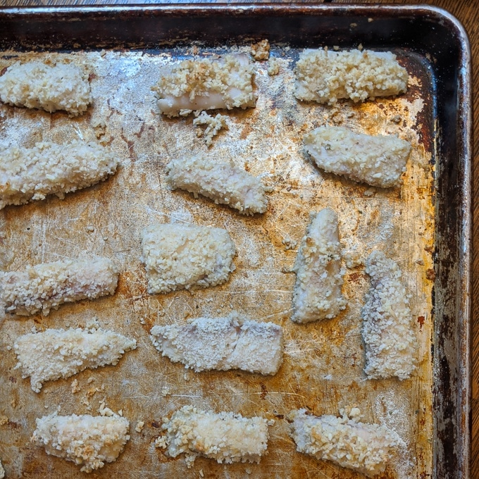 Lemon Breaded Fish Sticks - Easy homemade baked fish sticks