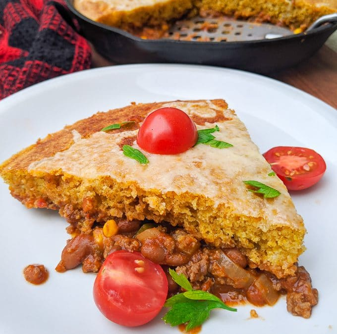 Cheesy Cornbread Taco Pie